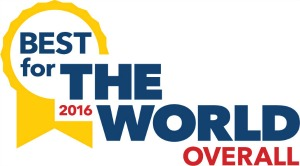 2016 BCorporation Best Of The World Overall